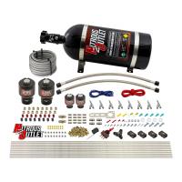 8 Cylinder Single Stage Direct Port Nitrous System - .178 Nitrous/.177 Fuel Solenoids - E85 - Straight Blow Through Nozzles