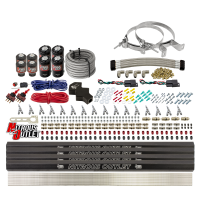8 Cylinder Dual Stage Direct Port Nitrous System with Injection Rails - E85 - .112 Nitrous/.177 Fuel - Straight Blow Through Nozzles