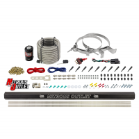 """10 Cylinder Dry Direct Port System With Single Injection Rail - .122"""" Nitrous - 90° Aluminum Nozzles"""