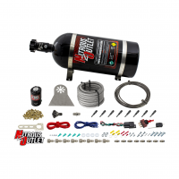 8 Cylinder Nylon Hose Direct Port Dry Nitrous System - Showerhead Distribution Blocks - .122 Nitrous - 90° Aluminum Nozzles