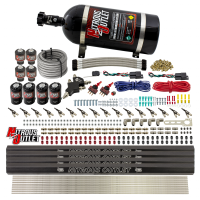 8 Cylinder Dual Stage Direct Port Nitrous System with Injection Rails - Gas - .112 Nitrous/ .177 Fuel - 45-55 PSI