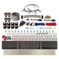 8 Cylinder Dual Stage Direct Port Nitrous System with Injection Rails - E85 - .112 Nitrous/.177 Fuel - 45-55 PSI - Straight Blow Through Nozzles