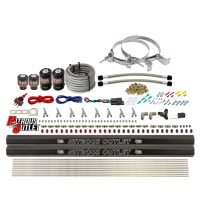 8 Cylinder Single Stage Direct Port Nitrous System with Injection Rails - E85 - .112 Nitrous/.177 Fuel - 45-55 PSI - Straight Blow Through Nozzles