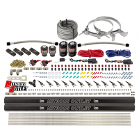 6 Cylinder 4 Solenoid Dual Stage Direct Port System With Distribution Blocks and 90 Degree Nozzles, Low Fuel Pressure E85
