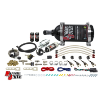Powersports Carbureted Four Cylinder Nozzle System - .078 Nitrous/.155 Fuel - 90° Aluminum Nozzles