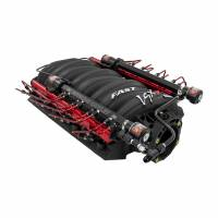 FAST LSX R 102mm intake equipped with a Single Stage Direct Port Nitrous System with Injection Rails Cover